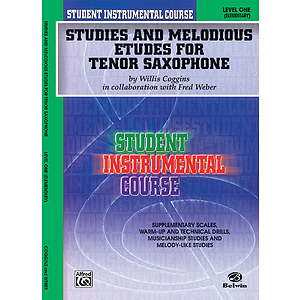 Studies And Melodious Etudes Tenor Sax Level 1