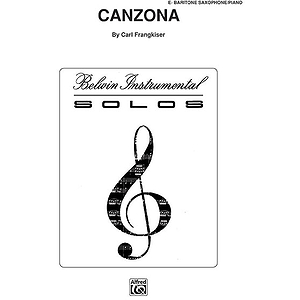 Canzona E-Flat Baritone Saxophone Solos (With Piano Accompaniment)