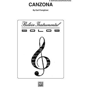 Canzona E-Flat Baritone Saxophone Solos (With Piano Accompaniment)