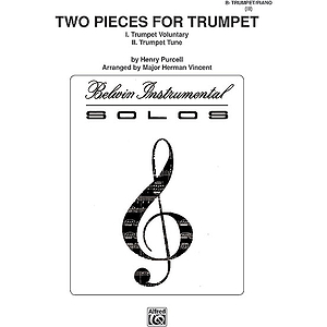 Two Pieces For Trumpet (Trumpet Voluntary Trumpet Tune) B-Flat Cornet (Trumpet) Solos (With Piano Accompaniment)