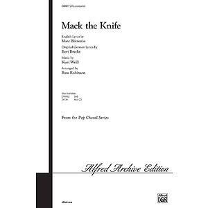 Mack The Knife  Satb
