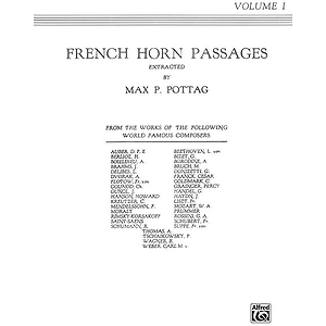 French Horn Passages Volume I