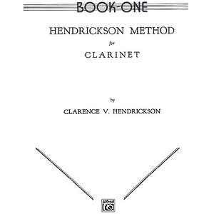 Hendrickson Method For Clarinet Book I