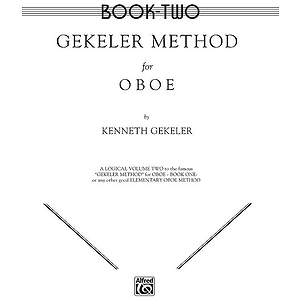 Gekeler Method For Oboe Book 2