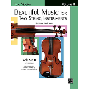 Beautiful Music For Two String Instruments Book II Two Violins