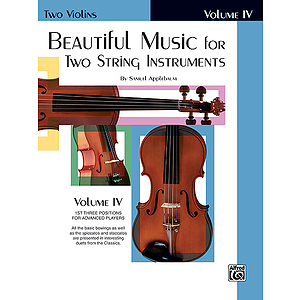 Beautiful Music For Two String Instruments Book IV Two Violins