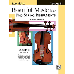 Beautiful Music For Two String Instruments Book III Two Violas
