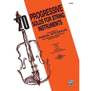 20 Progressive Solos For String Instruments (Piano Acc.)