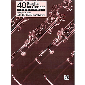 40 Studies For Clarinet Book Two Studies 21-40)