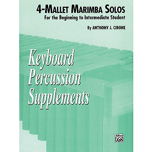 4-Mallet Marimba Solos Keyboard Percussion Supplements