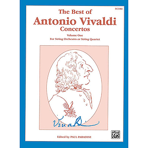 Best Of Antonio Valvaldi Concertos Volume One Score