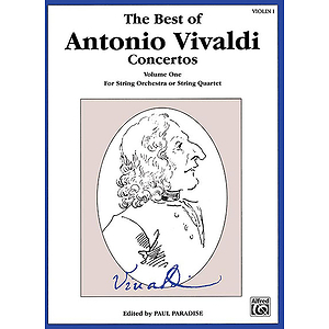 Best Of Antonio Vivaldi Concertos Volume One 1st Violin