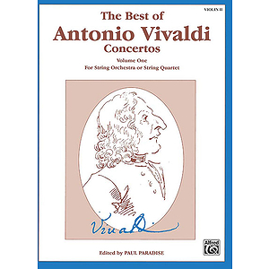 Best Of Antonio Vivaldi Concertos Volume One 2nd Violin
