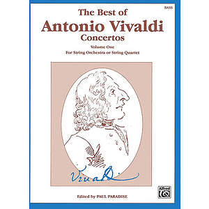 Best Of Antonio Vivaldi Concertos Volume One String Bass