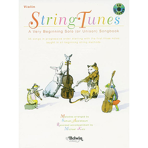 Stringtunes  A Very Beginning Solo (Or Unison) Songbook Violin Book/CD