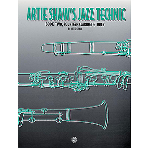 Artie Shaw's Jazz Technic Book Two  Fourteen Clarinet Etudes