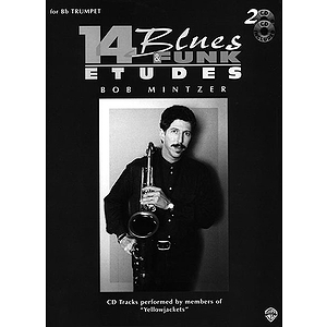 14 Blues &amp; Funk Etudes For B-Falt Trumpet Book And 2 Cds