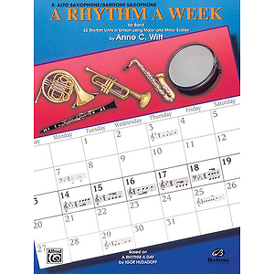 Rhythm A Week For Band E-Flat Alto Saxophone/Baritone Saxophone
