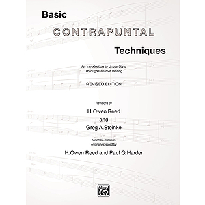 Basic Contrapuntal Techniques Revised Edition Reed Steinke