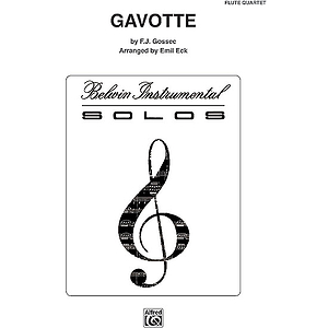 Gavotte Flute Quartets With Full Score