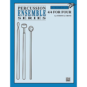 4/4 For Four Percussion Ensemble Series
