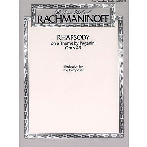 Rhapsody On A Theme By Paganini Opus. 43 The Piano Works Ofrachmaninoff