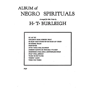 Album Of Negro Spirituals High Voice