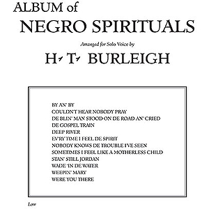 Album Of Negro Spirituals Low Voice
