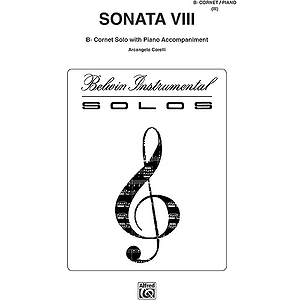 Sonata No.8 B-Flat Cornet (Trumpet) Solos (With Piano Accompaniment