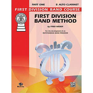 First Division Band Method Part 1 E-Flat Alto Clarinet