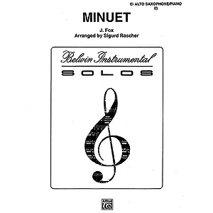 Minuet E-Flat Alto Saxophone Solos (With Piano Accompaniment