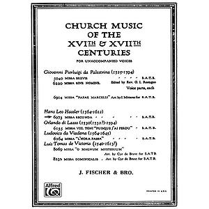 Missa Secunda Satb A Cappella (L)