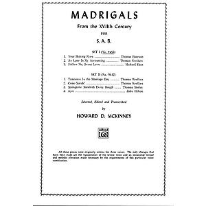 Madrigals Sab Set I (3)
