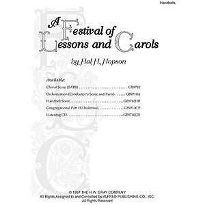 Festival Of Lessons And Carols Handbell Score