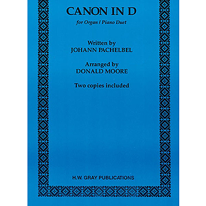 Canon In D  Organ-Piano Duet Arranged By Donald Moore