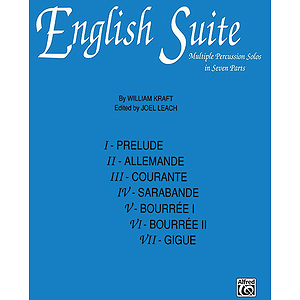 English Suite Multiple Percussion Solos In Seven Parts