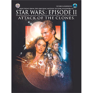 Star Wars Episode II Attack Of The Clones Tenor Sax Book And CD
