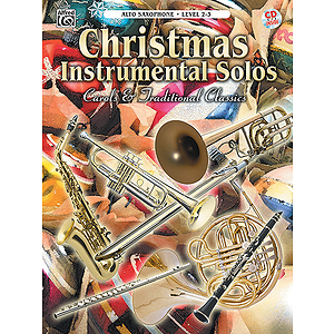 Christmas Instrumental Solos Carols And Traditional For Alto Sax Book And CD