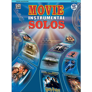Movie Instrumental Solos Tenor Sax Book And CD