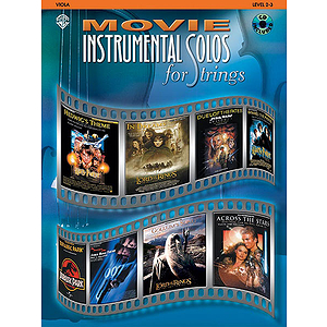 Movie Instrumental Solos For Strings Viola Book And CD