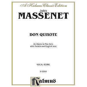 Massenet Don Quixote  Vocal Score