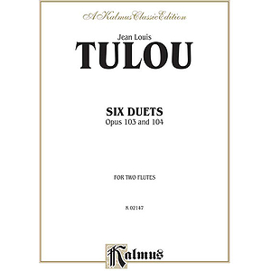 Jean Louis Tulou  Six Duets For Two Flutes Opus 103 And 104