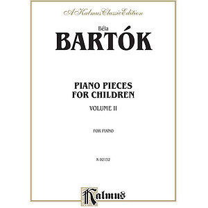 For Children Volume II By Bela Bartok