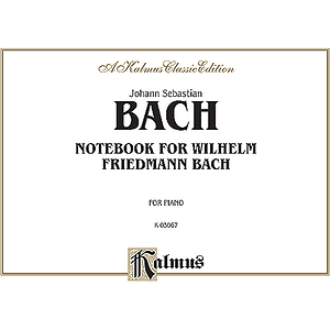 Bach Notebook For Willhelm Friedmann Bach