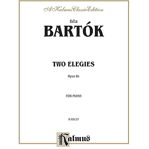 Bartok 2 Elegies Op.8b Pa