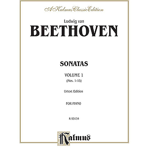 Beethoven  Sonatas (Urtext) Volume I