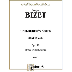 Bizet Children's Suite (Juex D'enfants)  Piano Duet (2p4h)