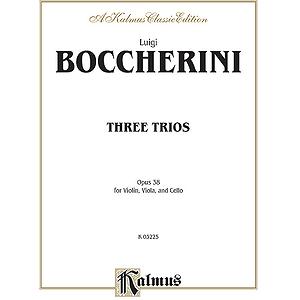 Boccherini 3 St. Trios Op.38 3