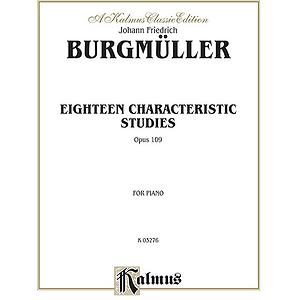 Burgmueller  18 Characteristic Studies Op. 109