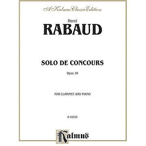 Solo De Concours For Cl/Pa Op 10